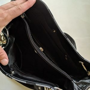 no brand Bags - Black zebra print shoulder bag